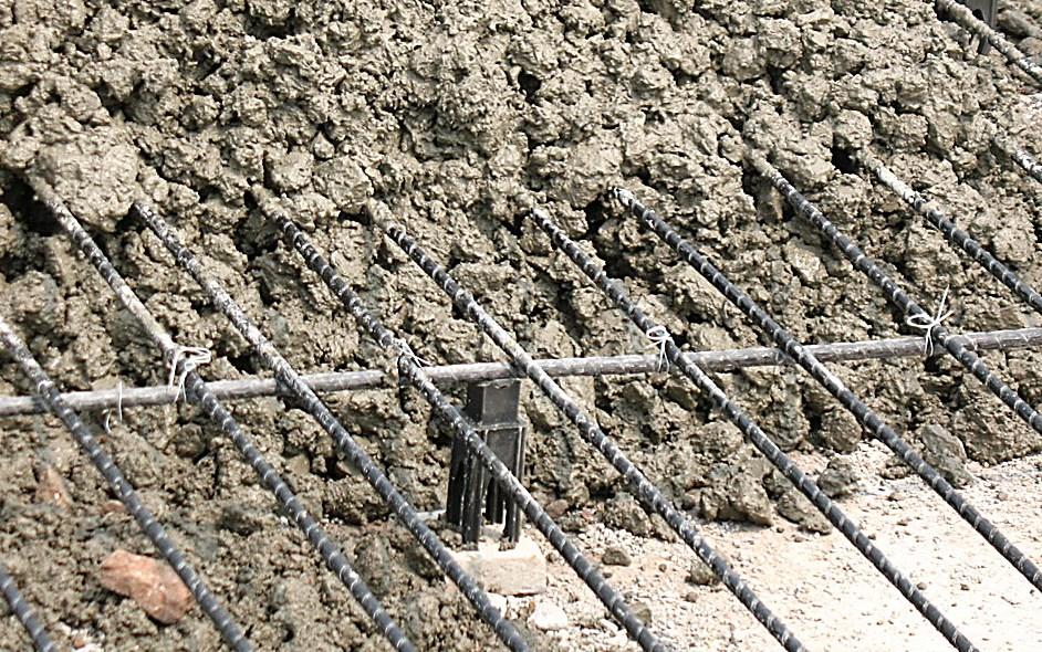 Fibra de basalto con hormigón