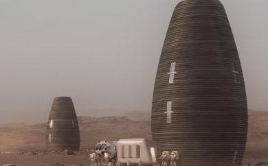 Viviendas de basalto en Marte