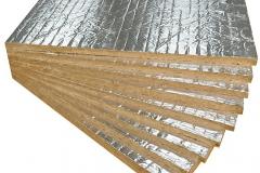 Paneles lana de roca con aluminio
