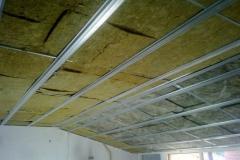Paneles de lana de roca en techo
